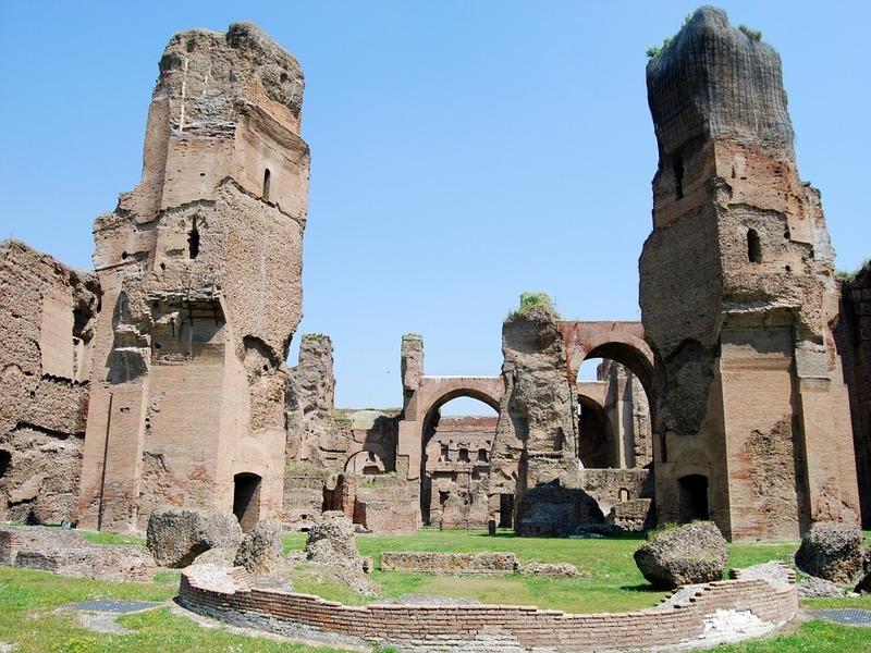 Terme Di Caracalla Roma - visuale Roma Antica