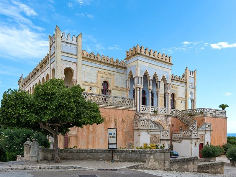 Veduta del retro di Villa Sticchi a Santa Cesarea Terme