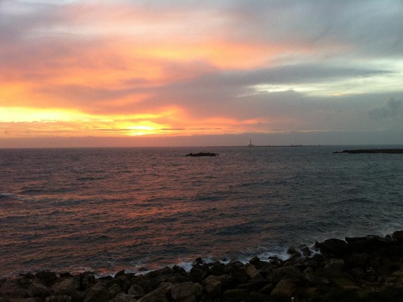 Tramonto E Isola Di Sant Andrea A Gallipoli