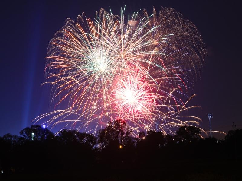 Fuochi D'artificio Per La Festa Di Sant Oronzo A Lecce