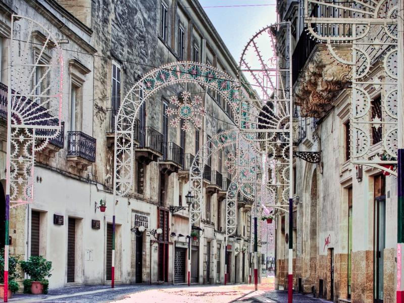 Festa Di Sant'Oronzo A Lecce - Le Luminarie per il centro storico