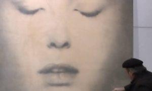 Must Lecce Mostra di Omar Galliani Disegno A Matita Dettaglio