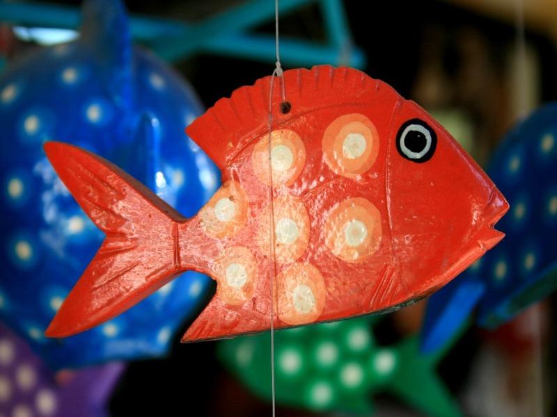 Pesce Di Cartapesta colorato