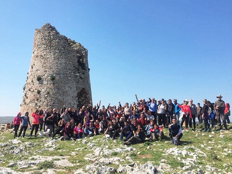 Trekking Salento Gruppo Di Partecipanti ad un percorso