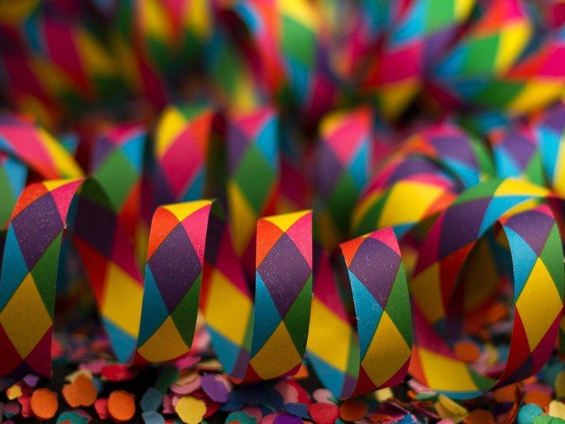 Coriandoli E Stelle Di Carnevale Colorati