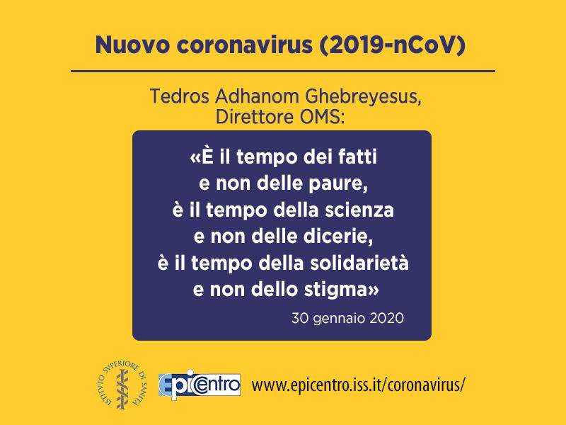 Coronavirus Direttore Oms