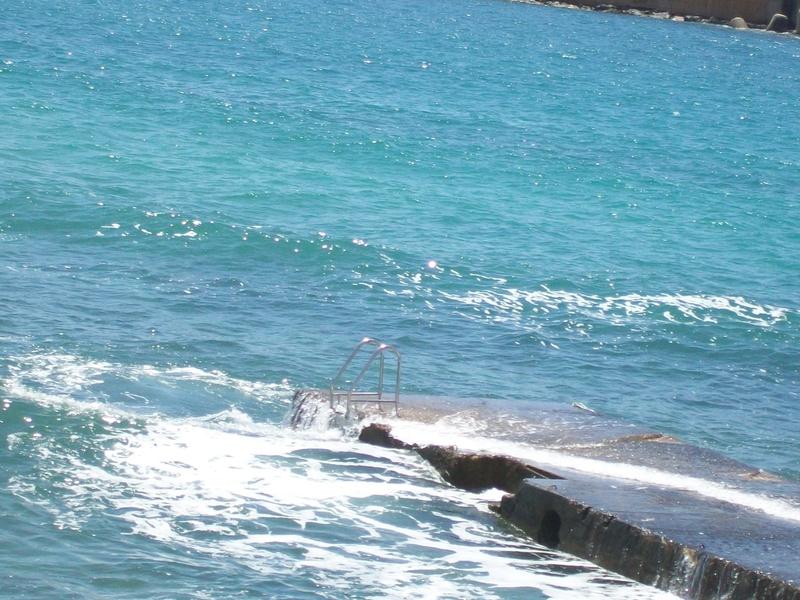 Il pontile o Molo degli inglesi a Leuca e le bagnarole