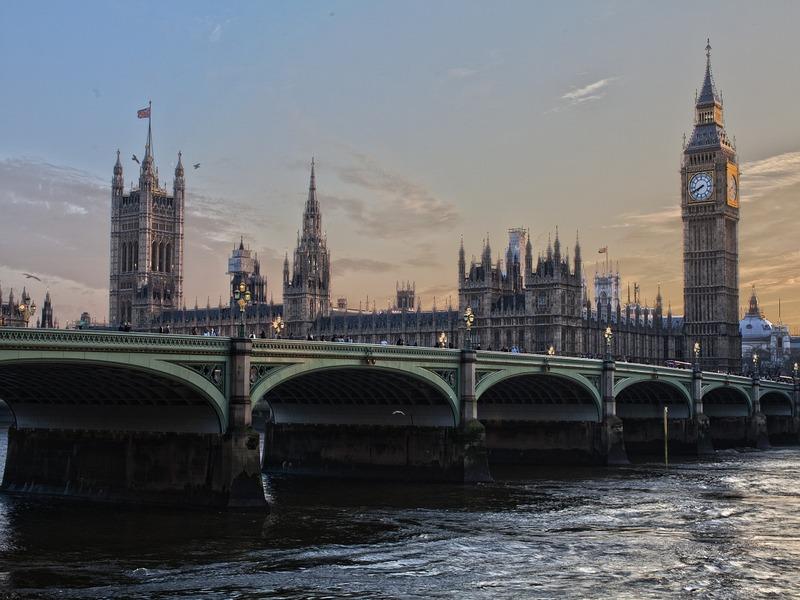 Londra, visuale del parlamento