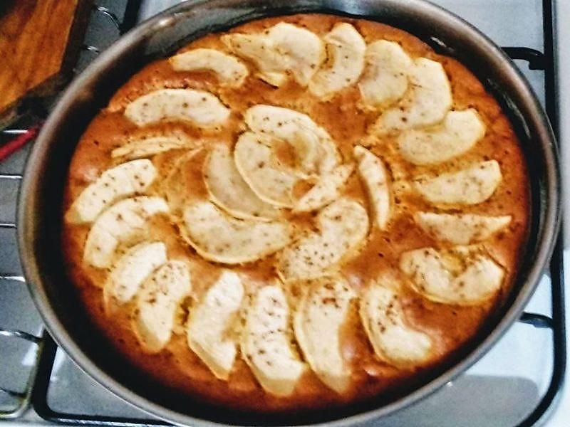 Torta Di Mele su un fornello