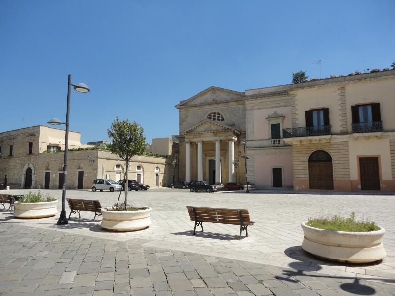 Piazza centrale di Ugento