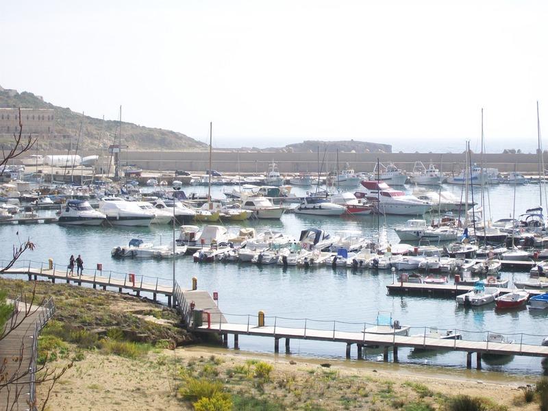 Barche nel porto di Leuca a settembre