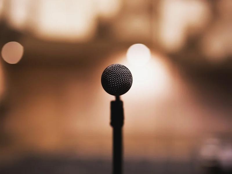 Microfono in primo piano