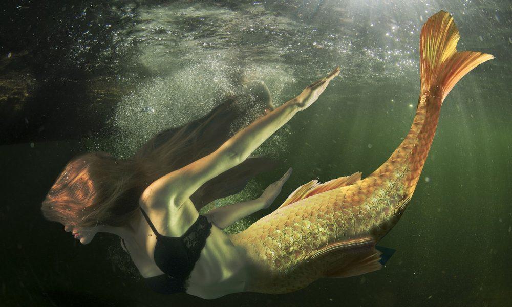 Sirena In Fondo Al Mare