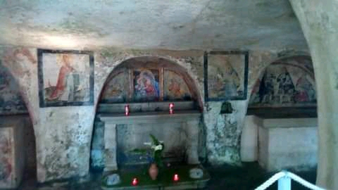 Altare Della Vergine Cripta Di Ortelle