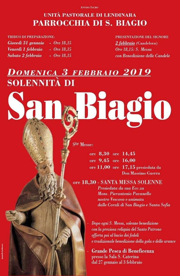Locandina Festa San Biagio a Lendinara