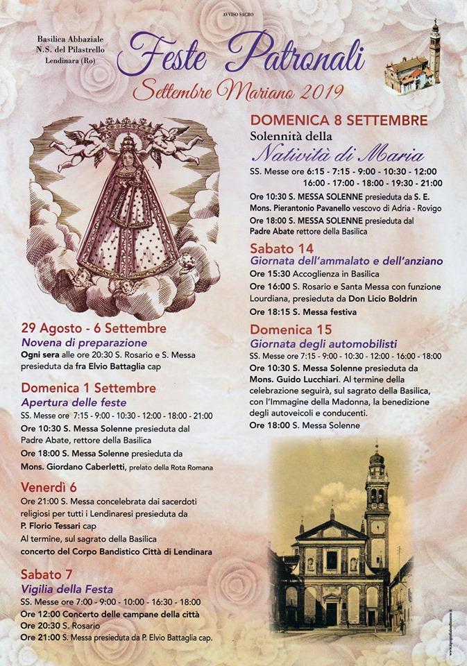 Settembre Mariano 2019 Ph Facebook Abbazia S. Maria Del Pilastrello