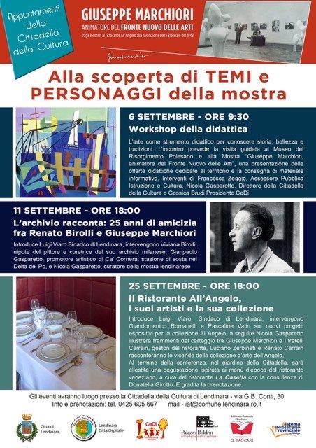 Mostra Appuntamenti Giuseppe Marchiori Animatore Del Fronte Nuovo Delle Arti