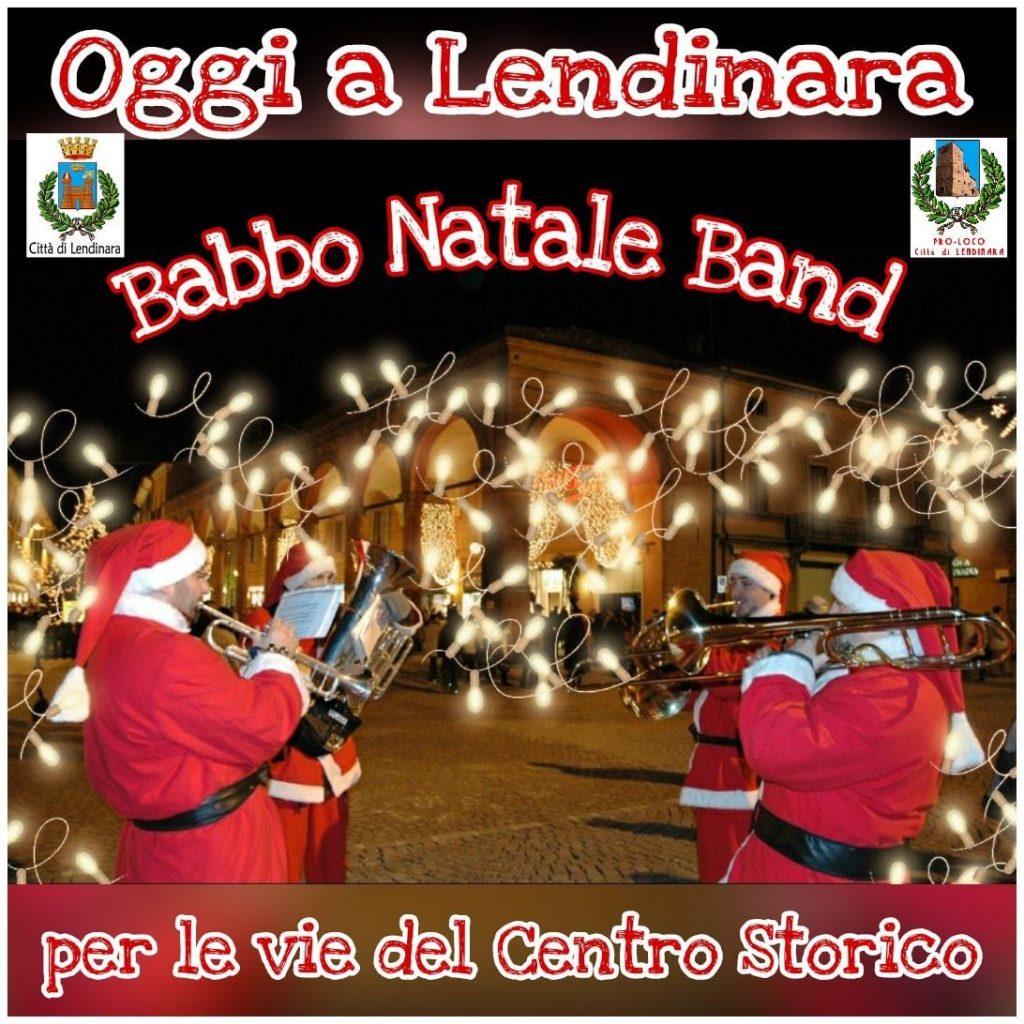 Lendinara: locandina Babbo Natale Band per le vie del centro storico.