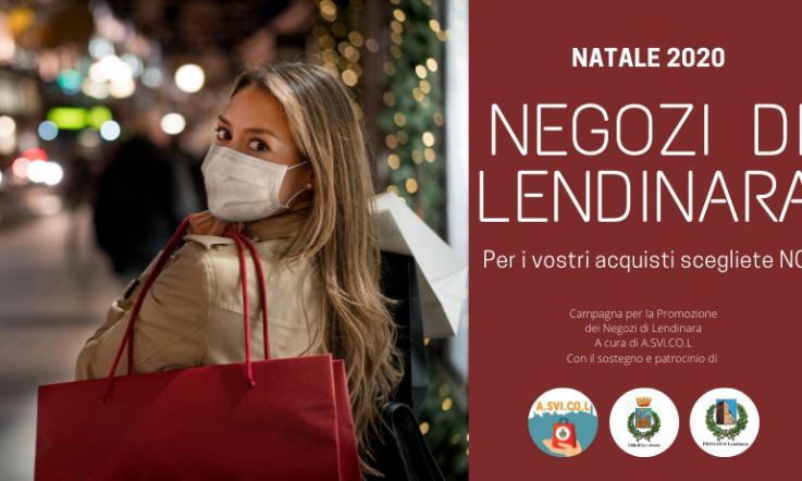 Locandina campagna di Natale 2020: NEGOZI DI LENDINARA.