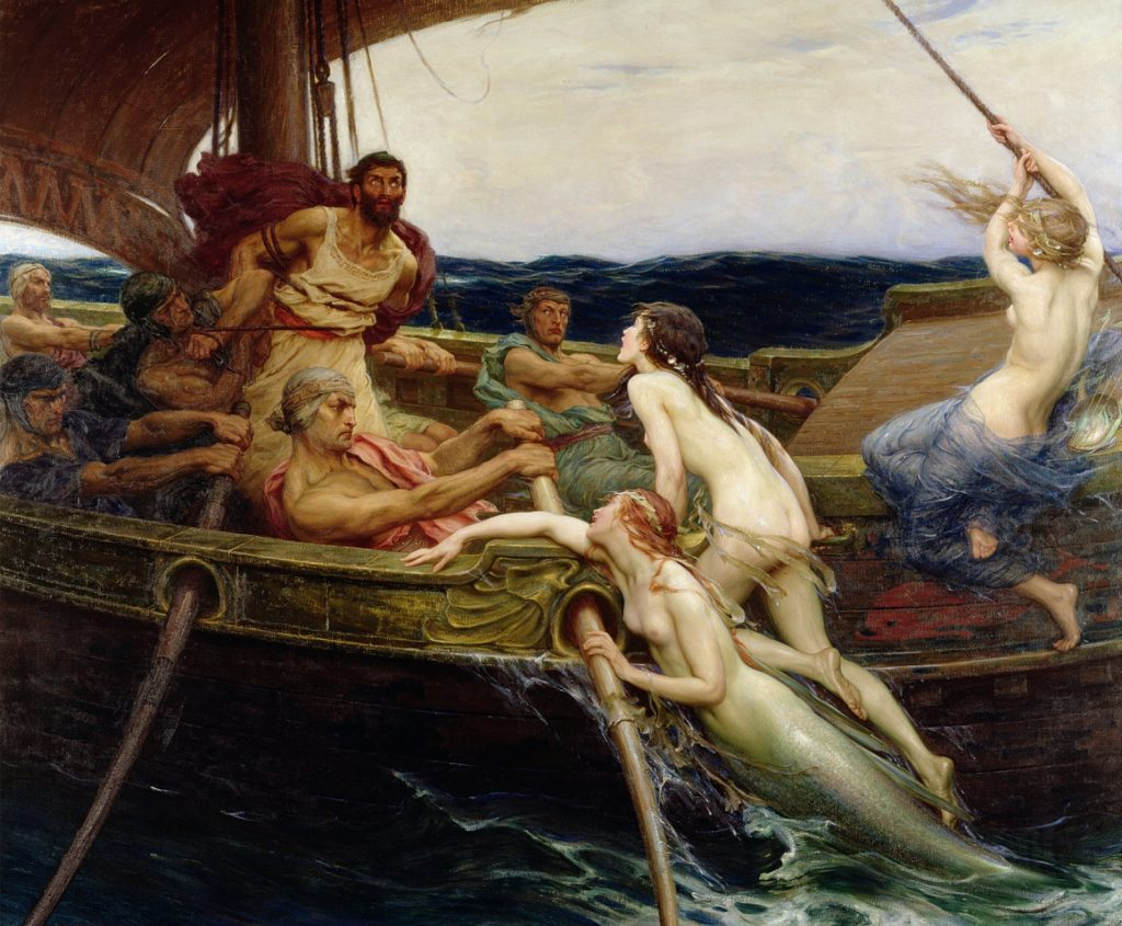 Ulysses And The Sirens, 1909 (oil On Canvas)