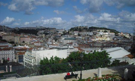 Baixa di Lisbona - vista