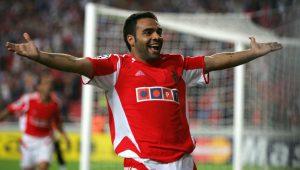 Benfica's Fabrizio Miccoli Celebrates Af