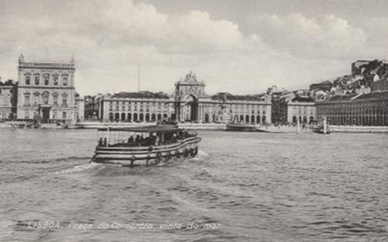 Lisbona - Piazza del Commercio negli anni '20