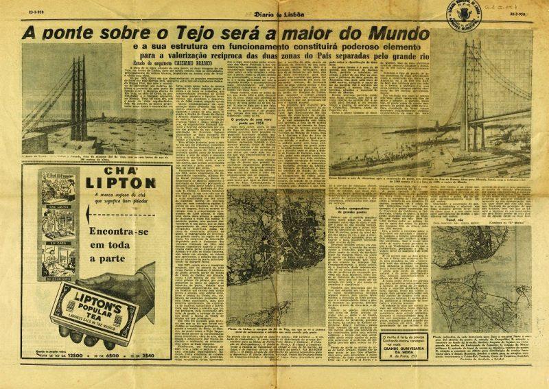 Ponte 25 di Abril - Articolo di giornale