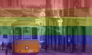 Lisbona Meta Gay - Bandiera arcobaleno