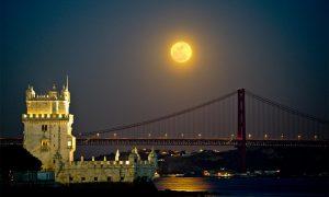 Superluna - Vista da Belém