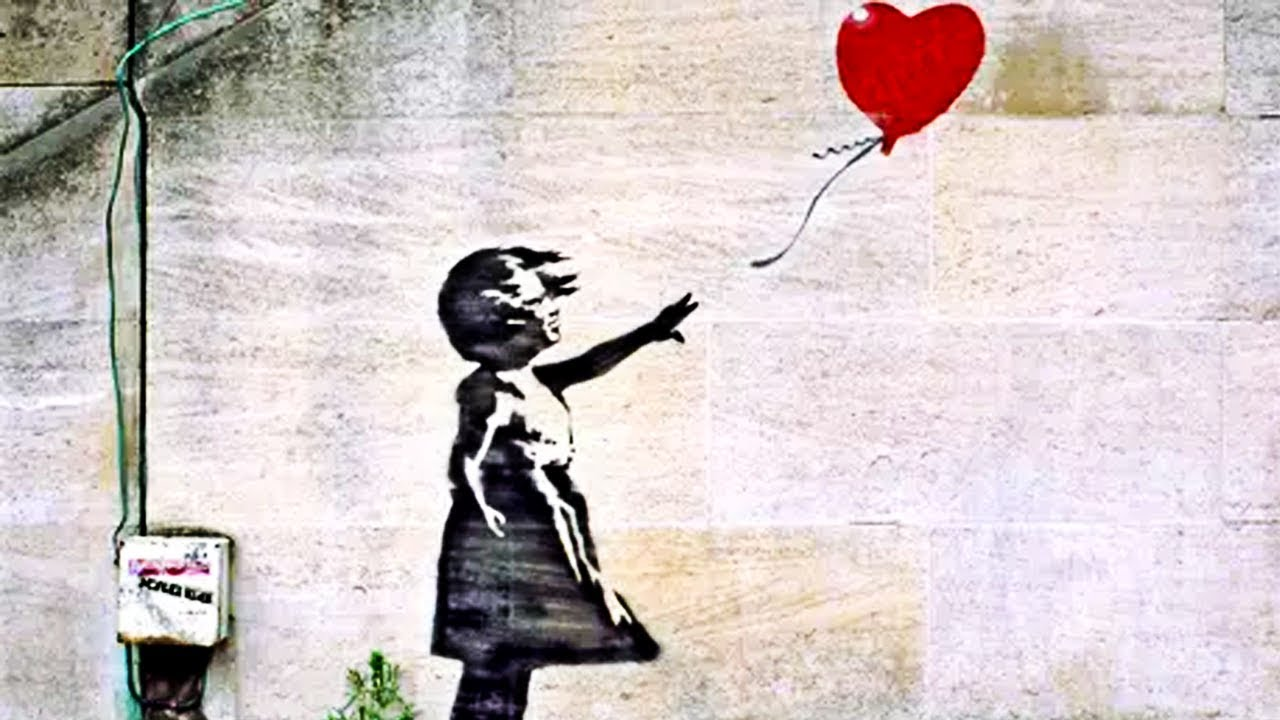 Banksy alla Cordoaria Nacional - murales con la bambina col palloncino