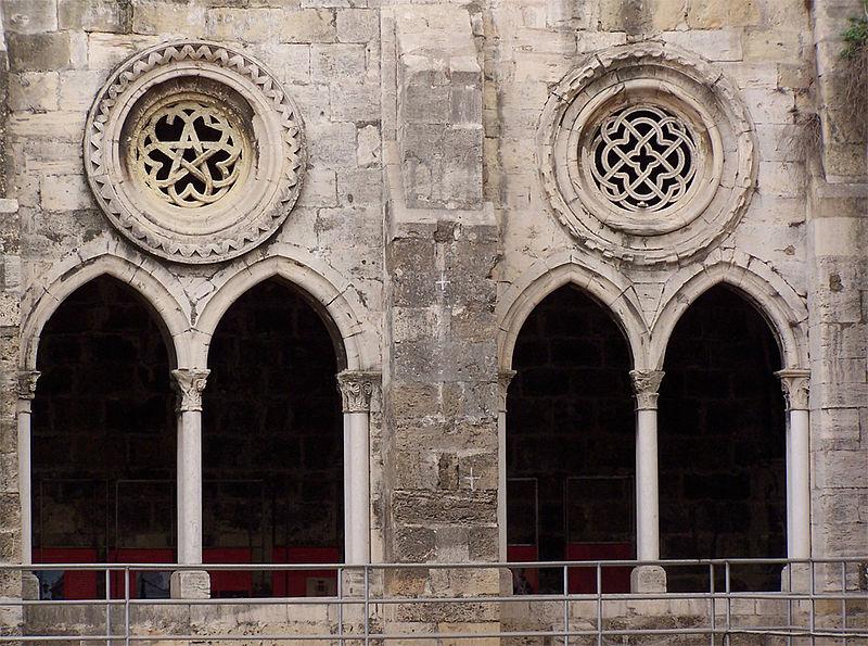 Chiostro Gotico Della Cattedrale Di Lisbona