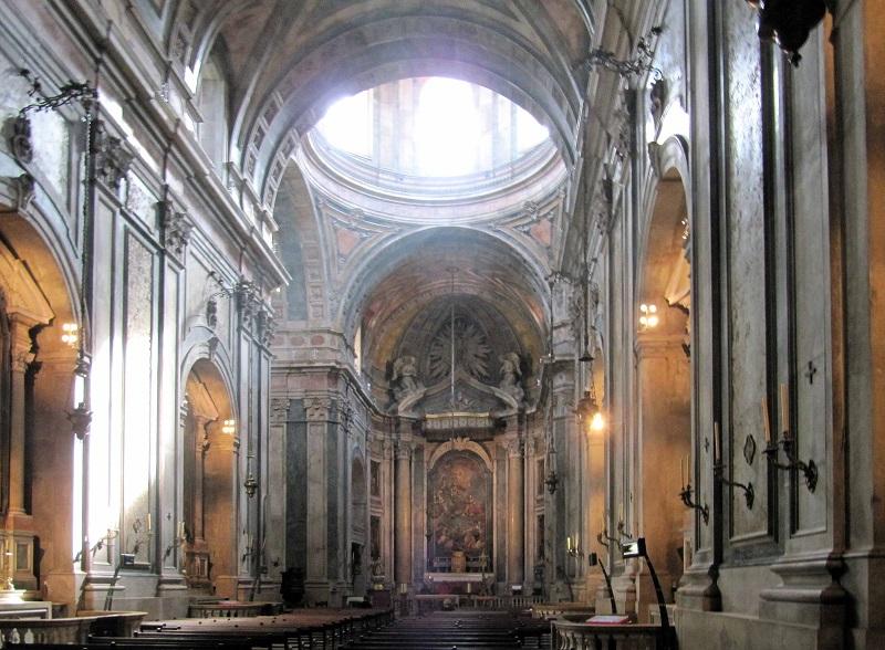 Interni Della Basilica Di Estrela