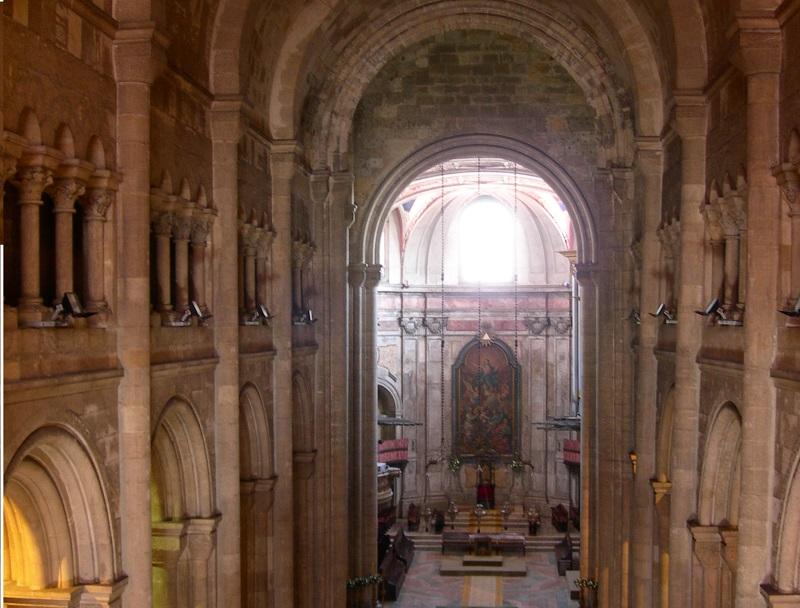 Interni Della Cattedrale Di Lisbona