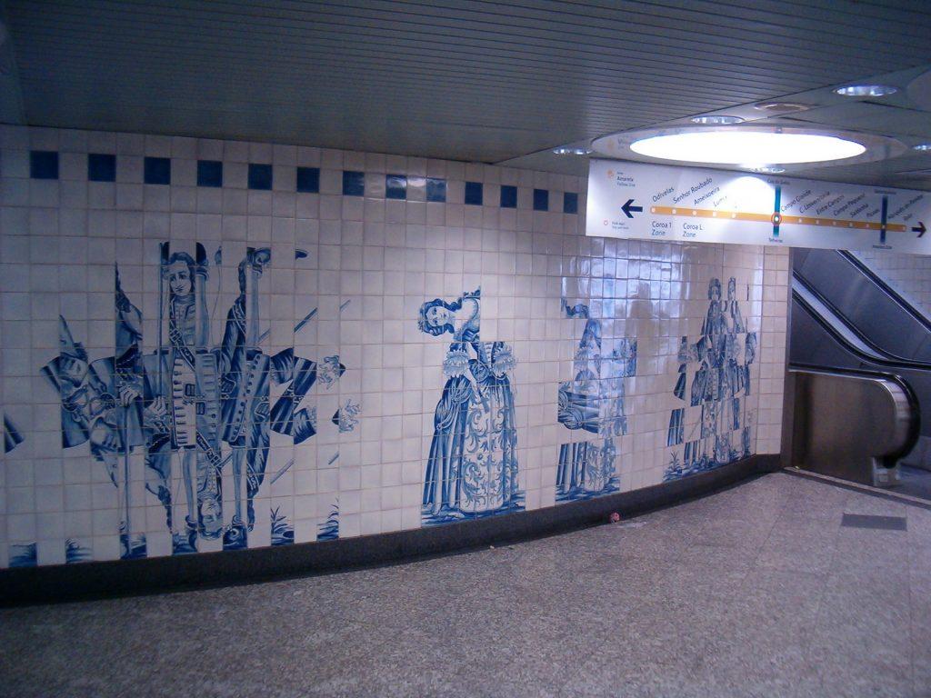 arte in metropolitana: Campogrande, metro Lisbona Koshelyev - Opera propria