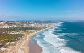 surf a Costa de Caparica: spiaggia.
