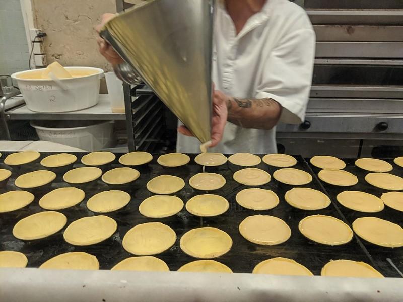 preparazione Pastel de belem