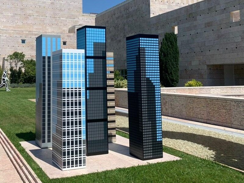 """Towers I"" di Julian Opie, Museo Berardo"