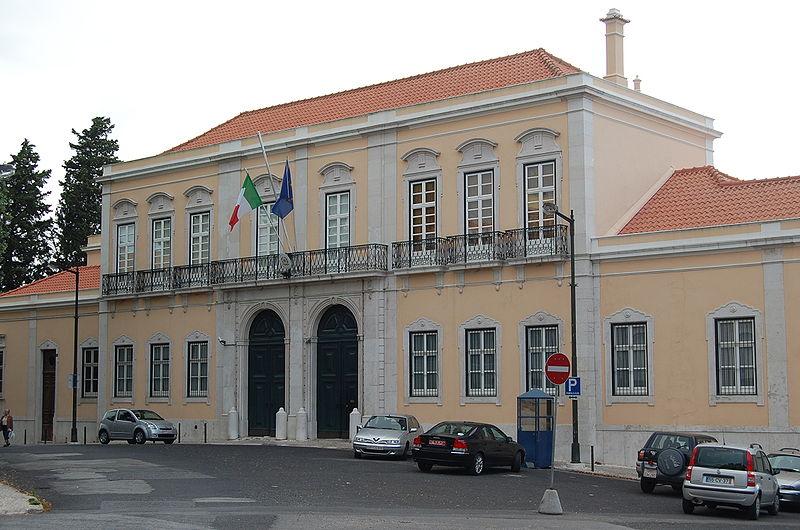 Palacio Pombeiro, sede dell'Ambasciata d'Italia a Lisbona