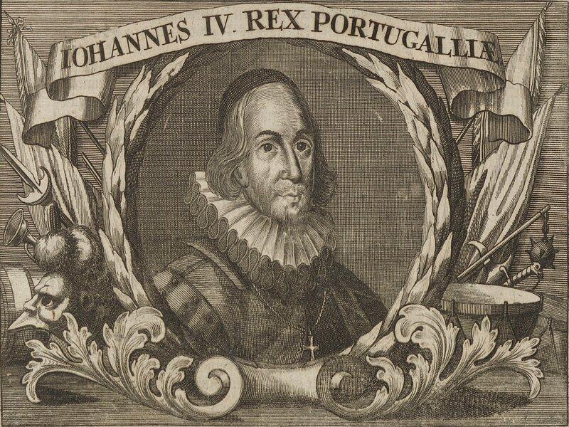 Ritratto di Giovanni IV di Portogallo - incisione d'epoca