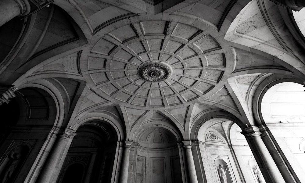 Un'immagine dell'atrio di accesso di Palazzo di Ajuda