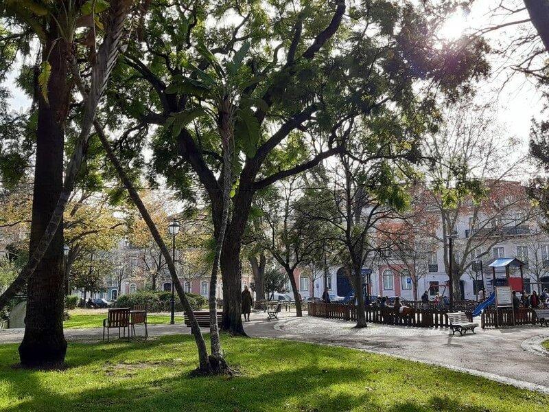 Un angolo di Jardim França Borges