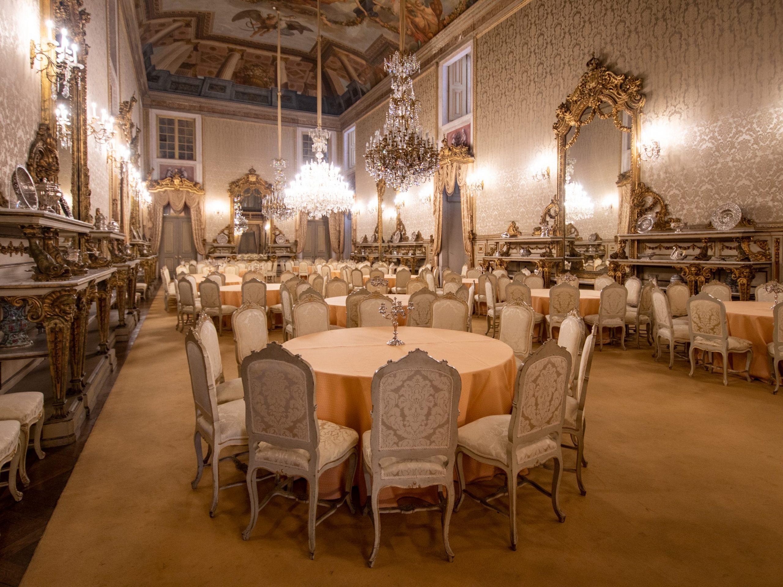Il Salone dei Banchetti di Palazzo di Ajuda, a Lisbona