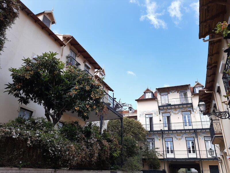 Un angolo di Vila Berta, uno dei villaggi operai più conosciuti di Lisbona