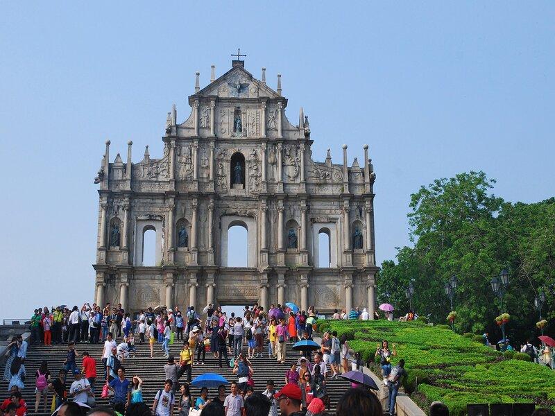 Un scorcio di Macao, ex-territorio portoghese in Cina