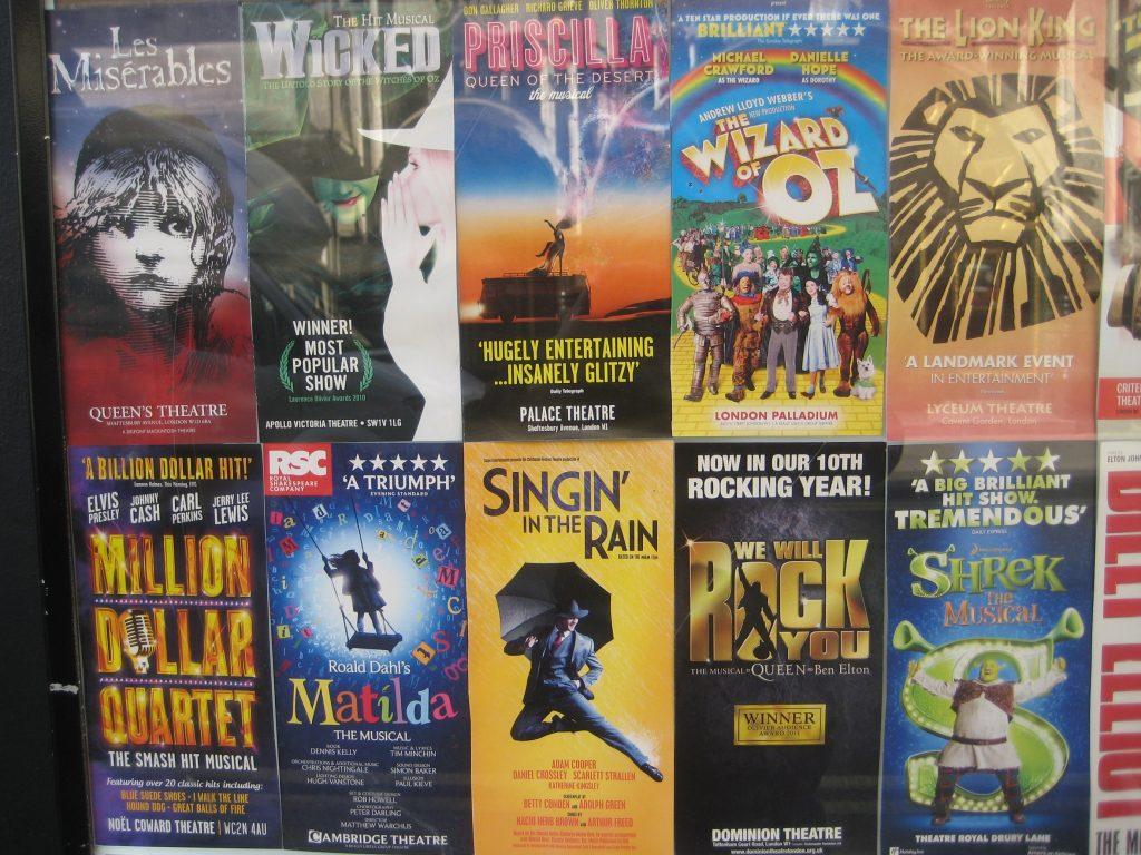 Locandine di Musical a Londra