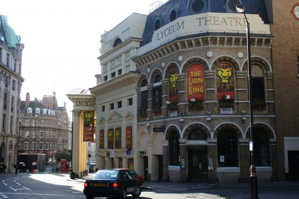 Lyceum Theatre dall'esterno