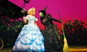 Uno spezzone di Wicked sul palco