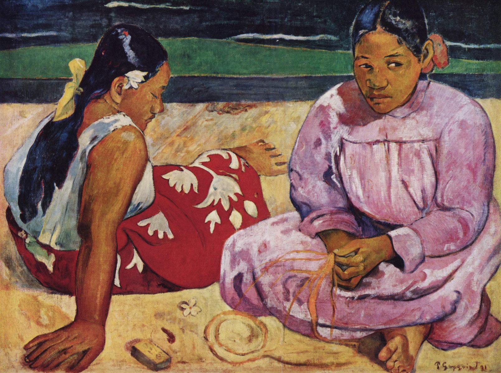 Paul Gauguin Donne Di Tahiti Sulla Spiaggia
