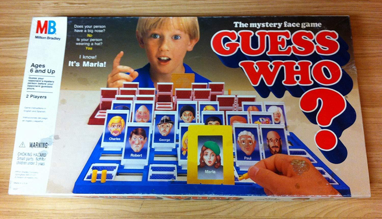 Scatola del gioco da tavolo Indovina chi? nella sua versione originale, made in UK